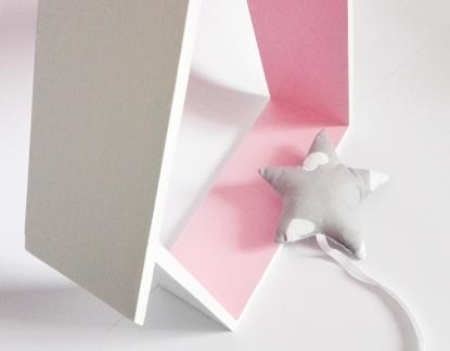 Półka Domek z daszkiem Różowy