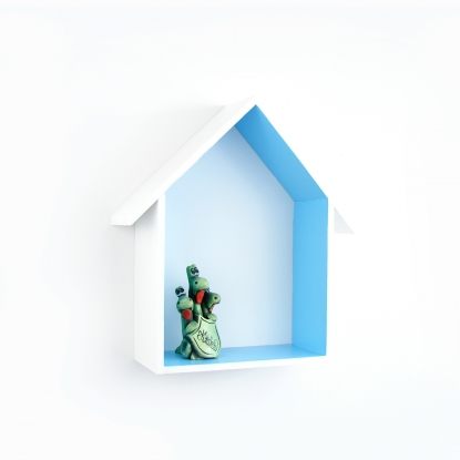 Półka Domek z daszkiem Błękitny
