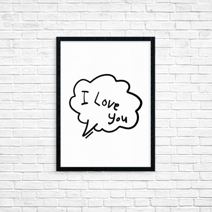 "Plakat A3 ""I Love You"" (29)"