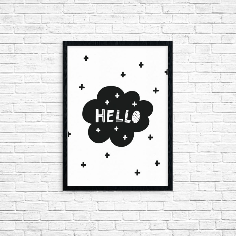 "Plakat A3 ""Hello world"" (64B)"
