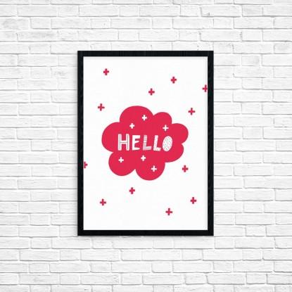 """Plakat A3 """"Hello"""" (65)"""
