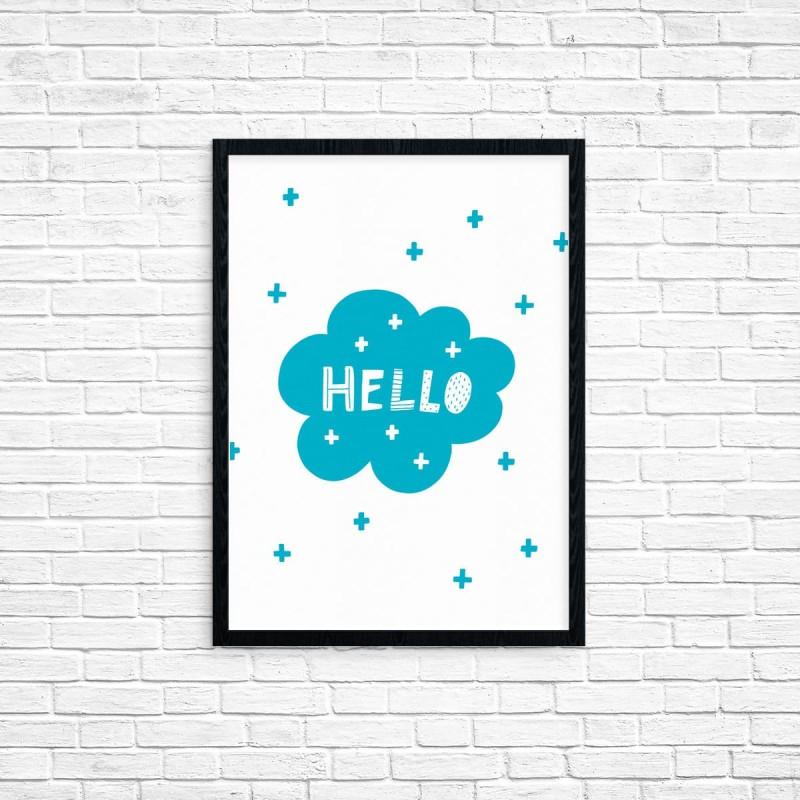 """Plakat A3 """"Hello"""" (65A)"""