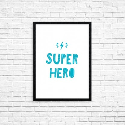 "Plakat A3 ""Super hero"" (79A)"