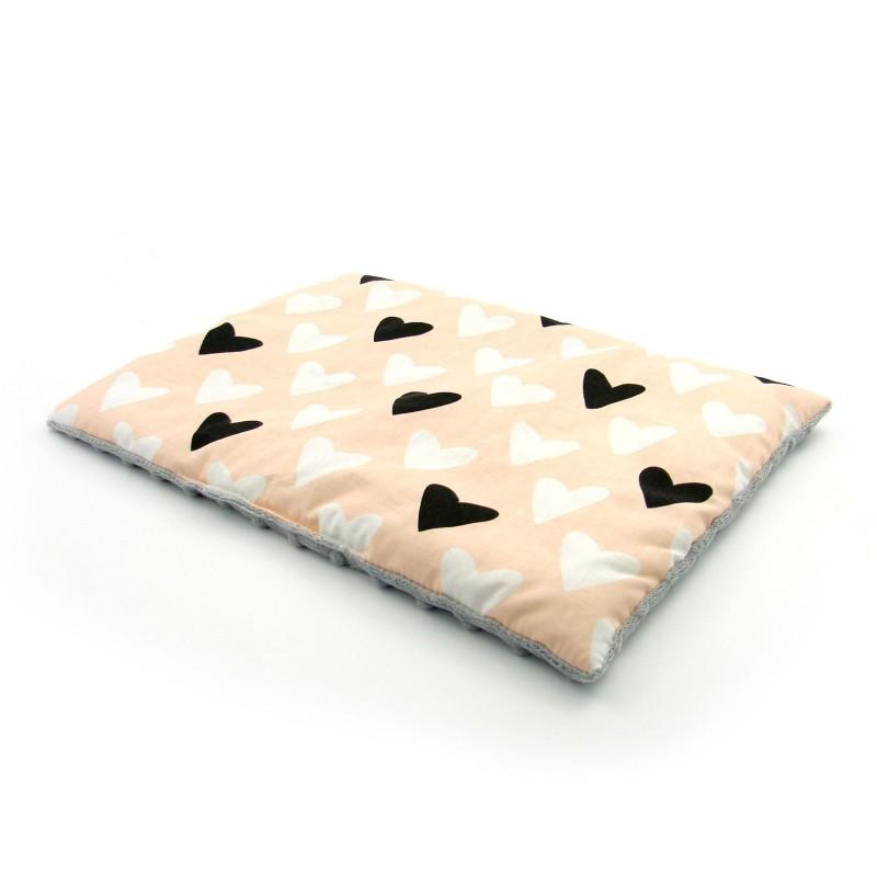 Płaska poduszka Minky Różowe Tipi