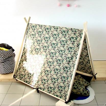 Namiot dla dzieci z matą, Gwiazdki na Miętowym i Czarna Mata