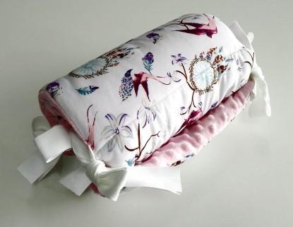 Ochraniacz do łóżeczka Ptaszki i Róż