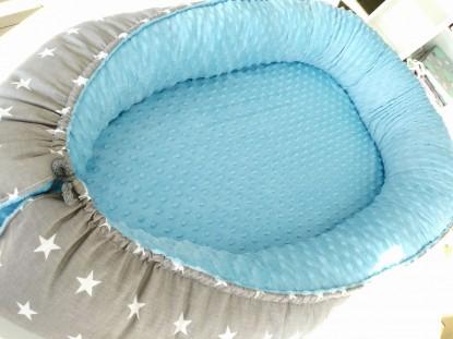 Kokon niemowlęcy Małe Gwiazdki i Niebieski