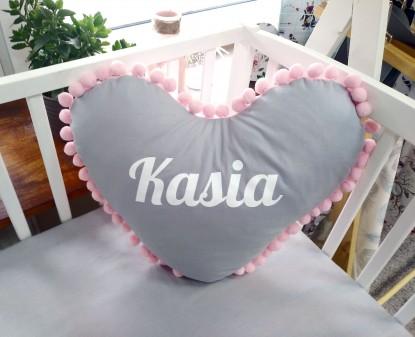 Poduszka z imieniem Kasia w kształcie serca
