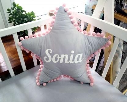 Poduszka z imieniem Sonia w kształcie gwiazdki