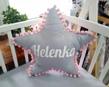 Poduszka z imieniem Helenka w kształcie gwiazdki