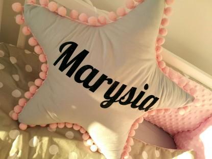 Poduszka z imieniem Marysia w kształcie gwiazdki