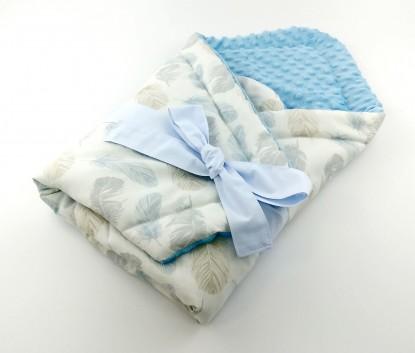 Rożek niemowlęcy Niebieskie Piórka i Niebieski [PREMIUM]