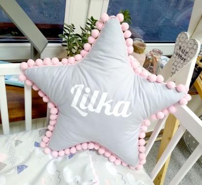 Poduszka z imieniem Lilka w kształcie gwiazdki
