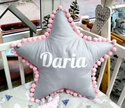 Poduszka z imieniem Daria w kształcie gwiazdki