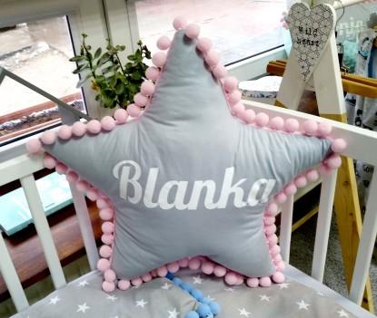 Poduszka z imieniem Blanka w kształcie gwiazdki
