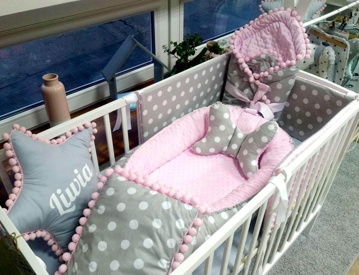 Kokon niemowlęcy Grochy i Róż