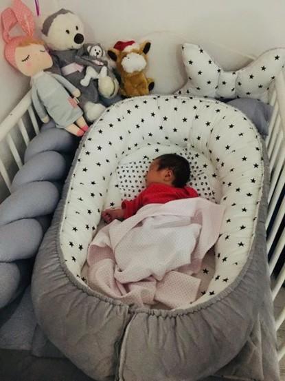 Kokon niemowlęcy Gwiazdki i Szary Velvet