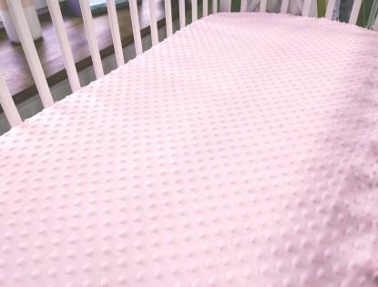 Prześcieradło Minky Jasny Róż (120x60cm)