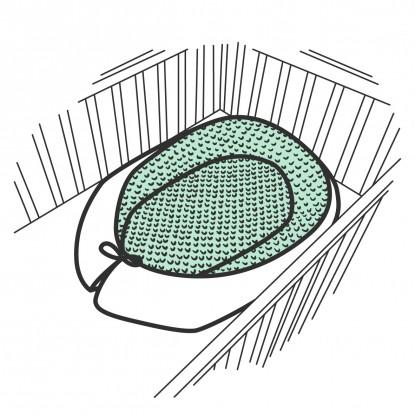 Kokon niemowlęcy minky w dowolnej kolorystyce