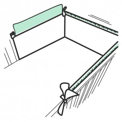 Ochraniacz usztywniany Minky w dowolnym wzorze z wyjmowaną gąbką