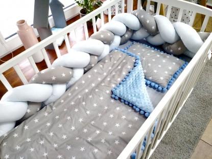 3-el pościel do łóżeczka Blue Stars