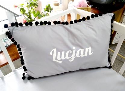 Poduszka z imieniem Lucjan 60x40cm