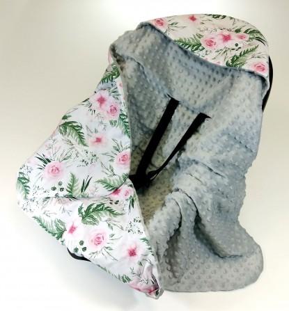 Kocyk do nosidełka i fotelika inGarden z Szarym (wersja ocieplana)