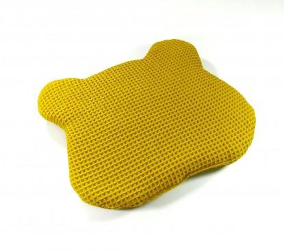 Poduszka Płaska Waffle Miodowa z uszami