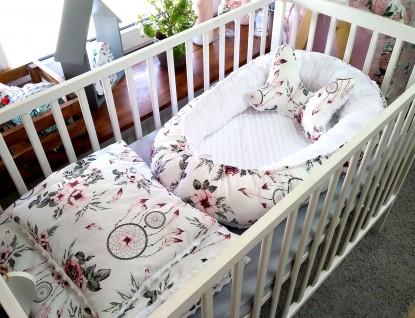 4-elementowa pościel do łóżeczka Różowe Łapacze Snów