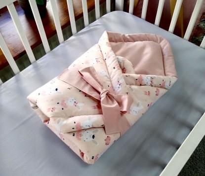 Rożek niemowlęcy Różowe Króliczki i Brudny Róż