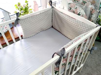 Ochraniacz do łóżeczka Papugi i Szary