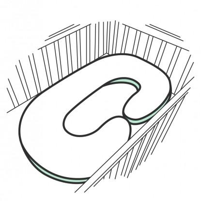 """Poduszka rogal dla kobiet w ciąży """"C"""" w dowolnym wzorze"""