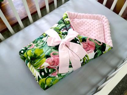Rożek niemowlęcy Flamingi i Róż