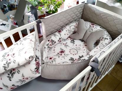 5-elementowa pościel do łóżeczka Różowe Łapacze Snów