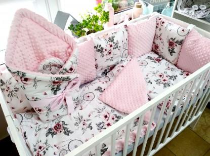 3-el pościel do łóżeczka Różowe Łapacz Snów i Róż
