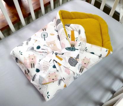 Rożek niemowlęcy Waffle Zwierzęta w Lesie