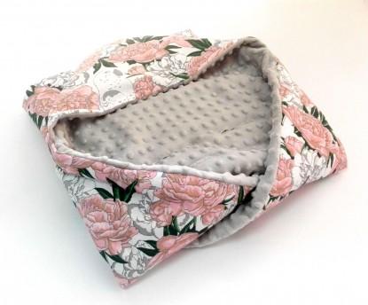Kocyk do nosidełka i fotelika Papugi  (wersja ocieplana)