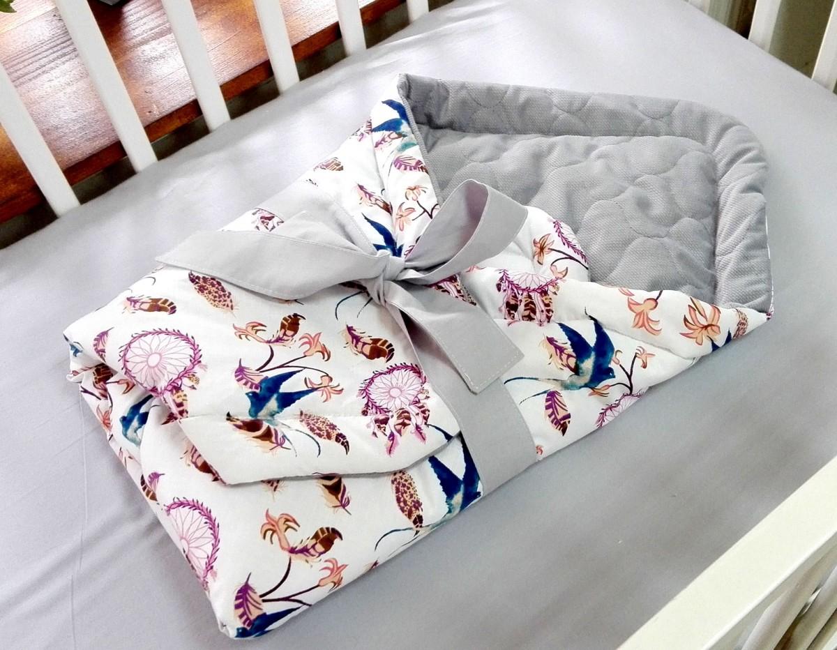 5-elementowa pościel do łóżeczka Velvet Ptaszki