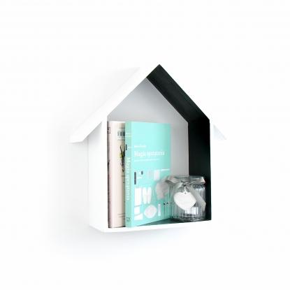 Półka Domek z daszkiem Czarna