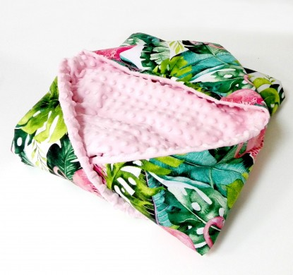 Kocyk do nosidełka i fotelika Flamingi (wersja letnia)
