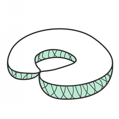 Rogal do Karmienia Velvet w dowolnym wzorze