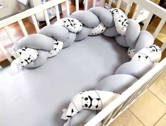 Ochraniacz Pleciony Pandy i Szarość