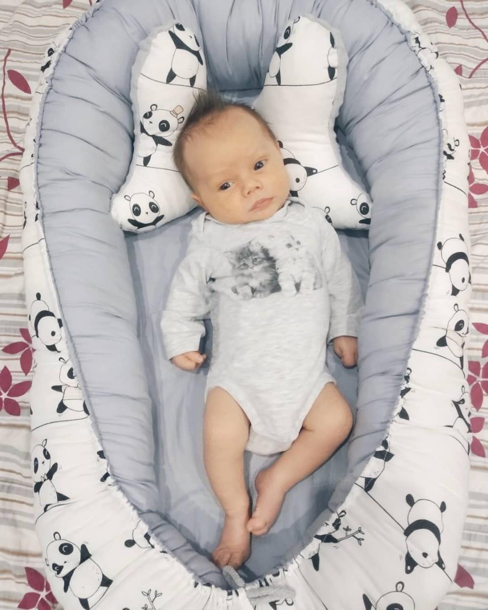 Kokon niemowlęcy Pandy i Szary Velvet
