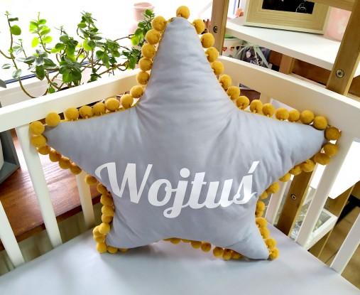 Poduszka z imieniem Wojtuś w kształcie gwiazdki Waffle