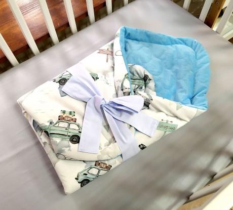 Rożek niemowlęcy Maluchy i Niebieski Velvet [PREMIUM]