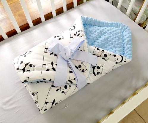 Rożek niemowlęcy Pandy i Jasnoniebieski