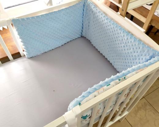 Ochraniacz do łóżeczka Misiaki i Niebieski