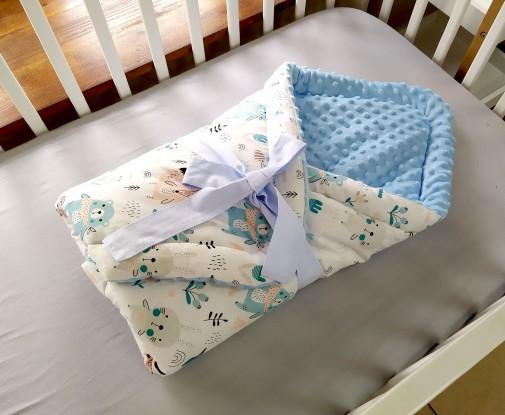 Rożek niemowlęcy Misiaki i Niebieski