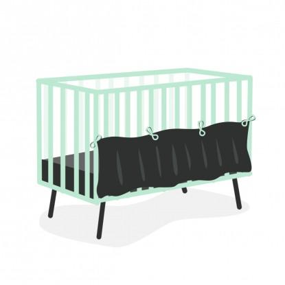 Falbanka maskująca do łóżeczka w dowolnym wzorze bawełniana