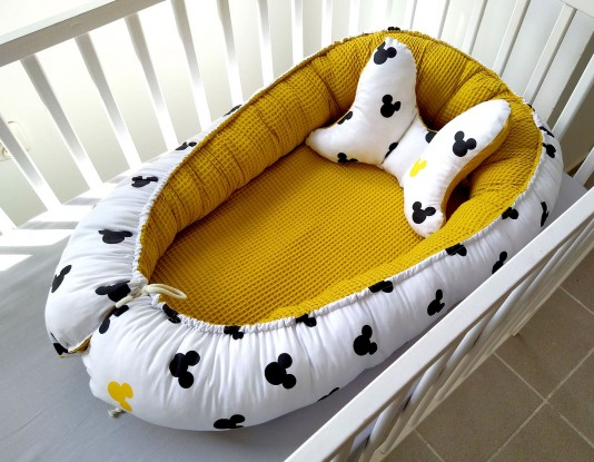 Kokon niemowlęcy Waffle Miki i Miodowy